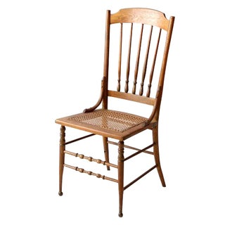 Antique Caned Wood Chair