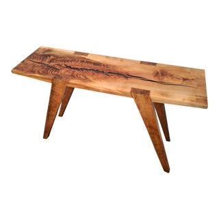"Embedded ""Fossil"" Live Edge Maple Console Table"