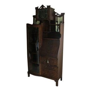 Victorian Side by Side Secretary Desk Bookcase