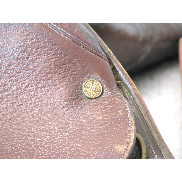 "Crosby Millers 16.5"" Brown Leather Horse Saddle - Image 3 of 8"
