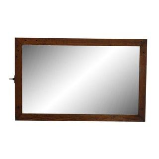 Oak Wood Framed Dresser Mirror