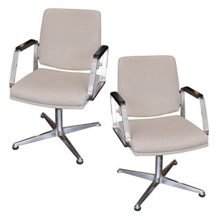 Vintage Office Swivel Chairs - Pair