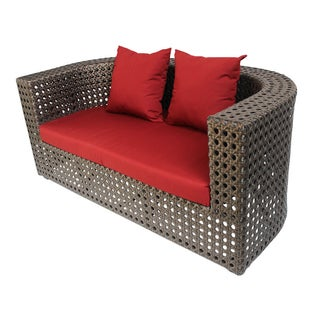Outdoor Faux Rattan Club Sofa