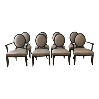 Barbara Barry Oval X-Back Dining Chairs - Set of 8
