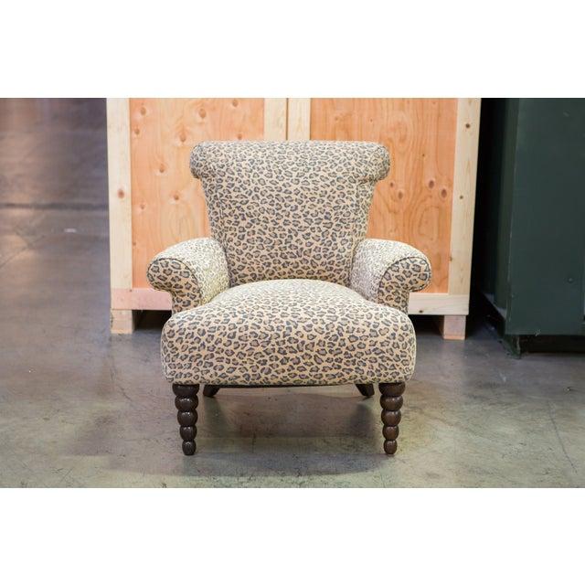 Leopard Print Rolled Back Arm Chair Chairish