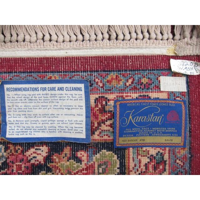 Karastan Red Sarouk Pattern - 8′9″ × 12′ - Image 5 of 8