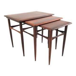 Vintage Danish Rosewood Nesting Tables - Set of 3