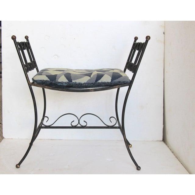 1960s Arthur Umanoff Style Iron Bench - Image 3 of 6