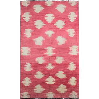 """Aara Rugs Inc. Hand Knotted Ikat Rug - 10'0"""" X 6'1"""""""