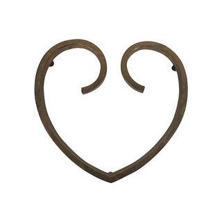 Heart Shaped Brass Trivet