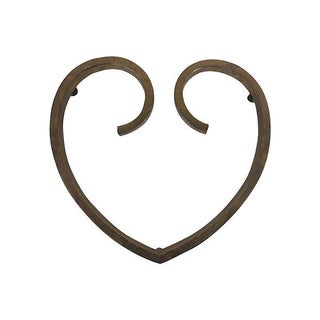 Heart Shaped Brass Trivet