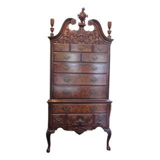 Queen Anne Style Wright Co. Highboy