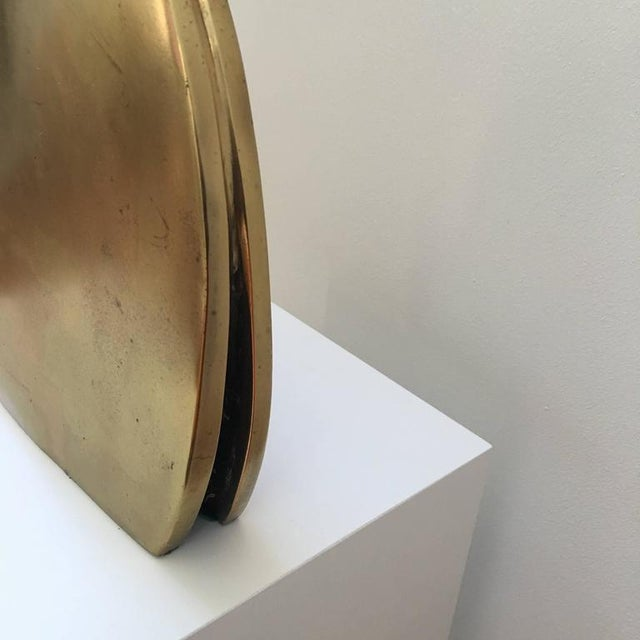 Image of Polished Brass Abstract Egyptian Sculpture