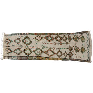 Vintage Azilal Moroccan Runner - 3′11″ × 12′5″