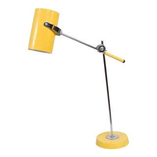 Mid-Century Modern Yellow Table Lamp
