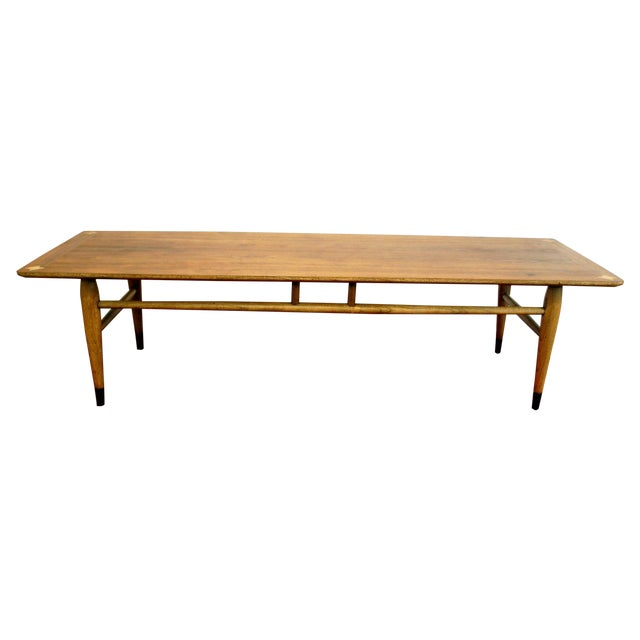 mid century lane surfboard coffee table chairish. Black Bedroom Furniture Sets. Home Design Ideas
