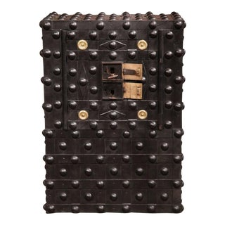 19th Century French Iron Hobnail Studded Safe by Magaud De Charf Marseille