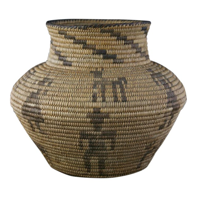 Pima Figurative Basketry Olla, circa 1920 - Image 1 of 7