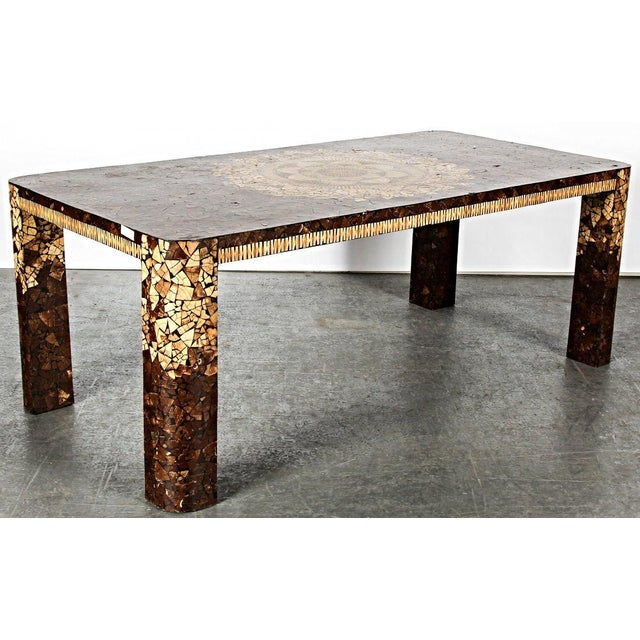 Art Deco Modern Inlaid Dining Table - Image 4 of 5