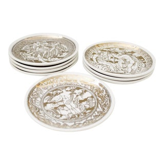 Piero Fornasetti Mitologia Coaster Dishes - S/8