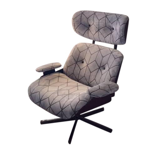 Eames Style Reupholstered Lounge Chair Chairish