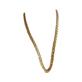 70s Gold Flat Chain Necklace