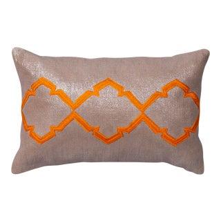 "Piper Collection Orange Peel Metallic Linen ""Caitllin"" Pillow"