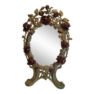 Vintage Iron Rose Vanity Mirror