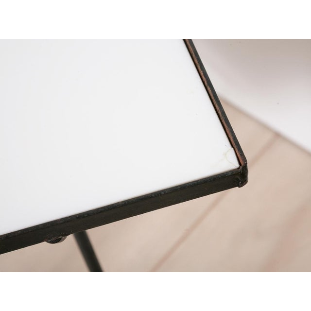 George Nelson Milk Glass Side Tables - Pair - Image 8 of 8
