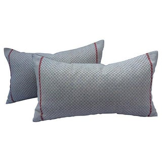 French Home-Spun Linen Pillows - Pair