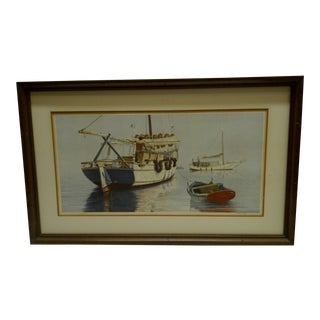 "Wellington Ward Jr. ""Fishing Boats"" Limited Edition Signed & Numbered Print"