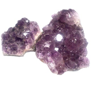 Amethyst Geode Specimens - a Pair