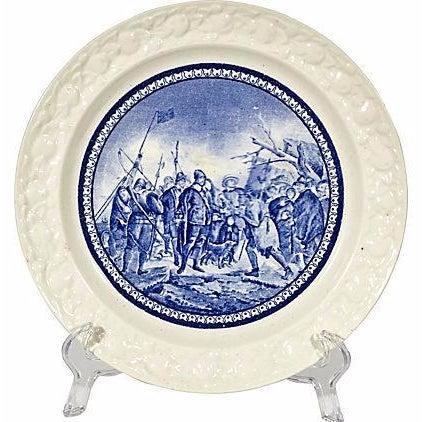 19th Century Pilgrim Landing Scene Plate - Image 1 of 5