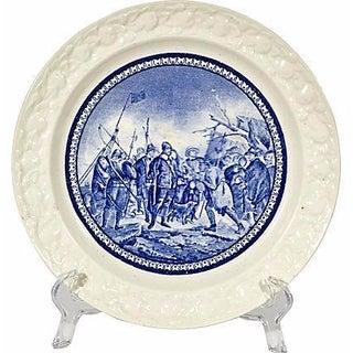 19th Century Pilgrim Landing Scene Plate