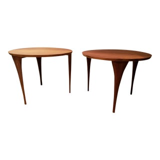 Mid-Century Modern Teak End Tables - A Pair