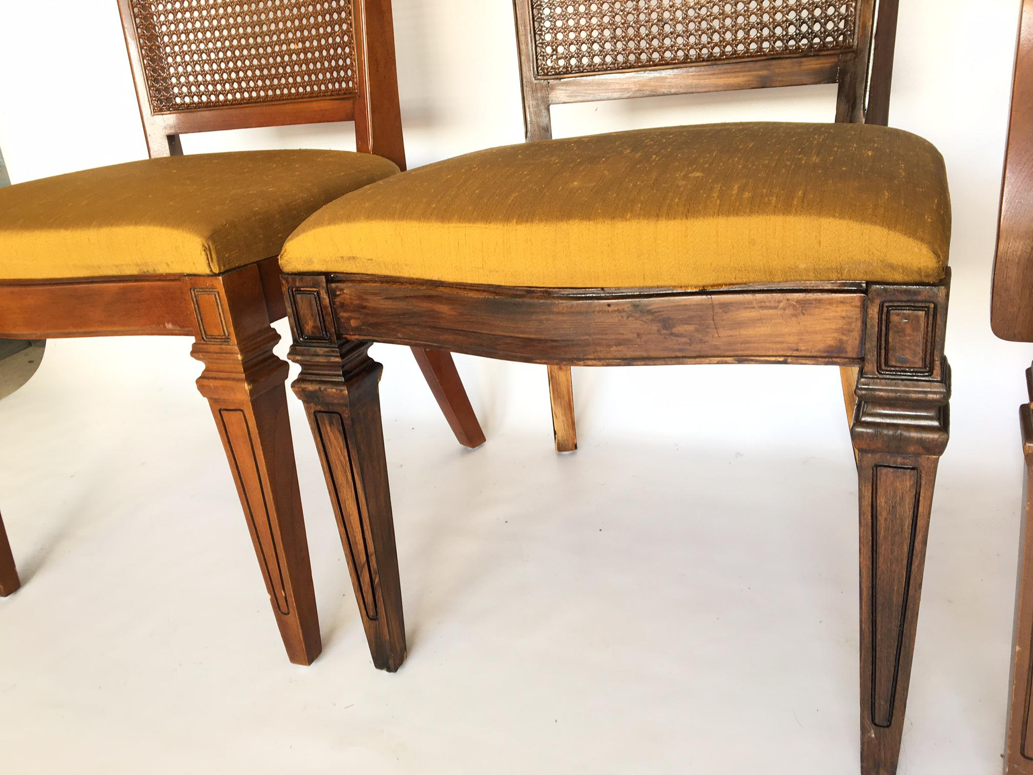 Century Furniture Hibriten Cane Back Dining Chairs   Set Of 6   Image 3 Of 8
