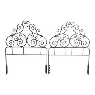 Vintage Metal Twin Headboards- A Pair
