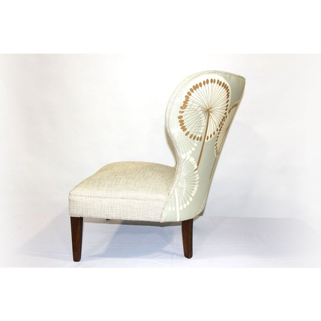 Antique Slipper Chair in Dandelion Upholstery - Image 3 of 4