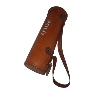 Leather Polo Balls Bag