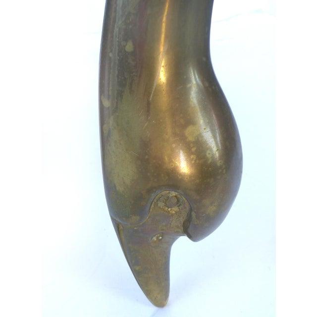 Brass & Tortoise Swan Coffee Table - Image 6 of 10