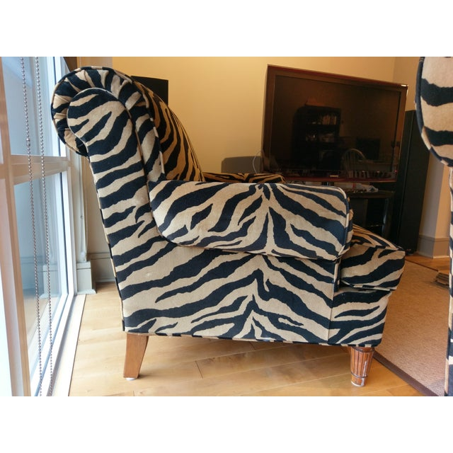 Tiger Print Chairs - Pair - Image 4 of 8