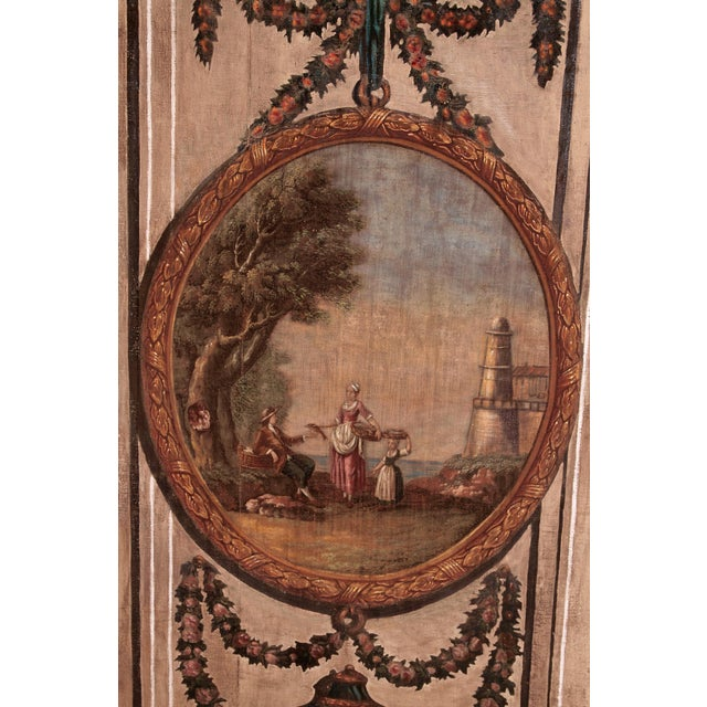 A Set of Five Large Hand-Painted Trompe l'Oeil Wall Panels - Image 3 of 11