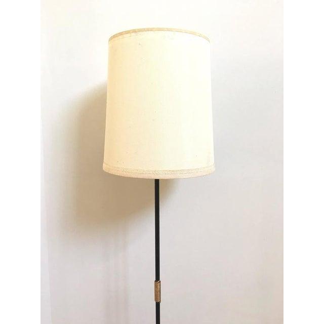 French Metal Tri-Leg Floor Lamp - Image 6 of 8