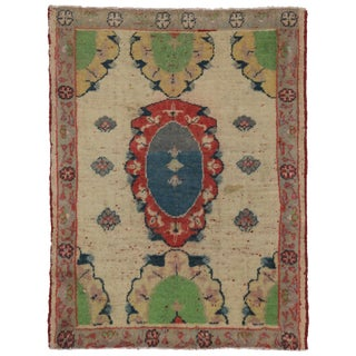 Vintage Yastik Turkish Rug with Modern Style, 2'4 x 3'