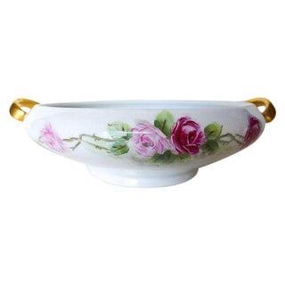 Hutschenreuther Floral & Gilt Decorated Porcelain Serving Bowl