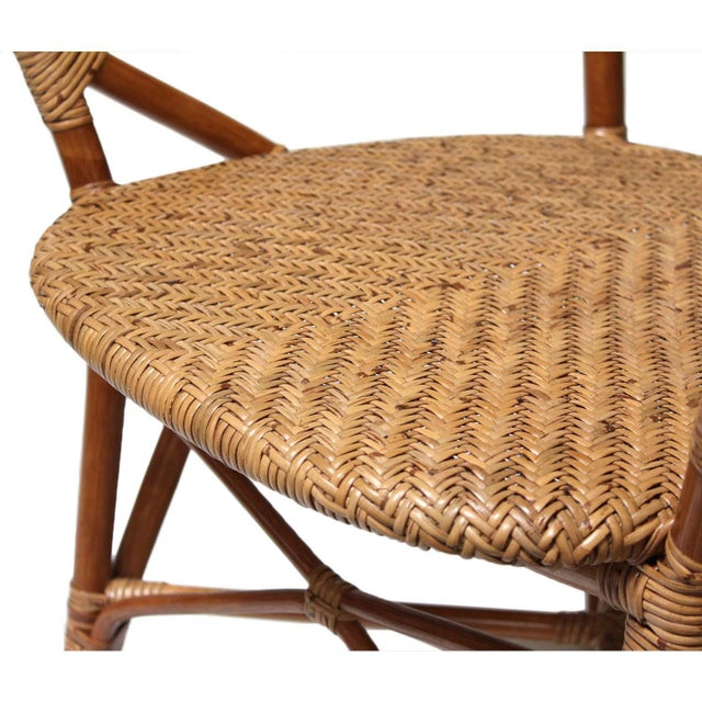 Rattan Bistro Dining Chairs - Set of 4 - Image 3 of 7