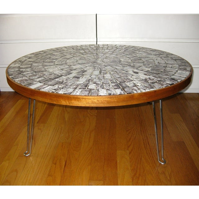 Tile Coffee Table Set: Round Mosaic Tile Coffee Table