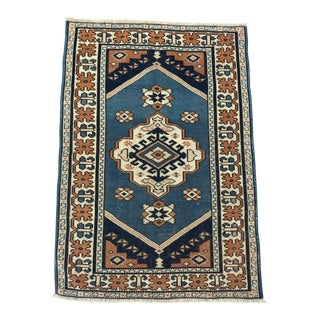 "Vintage Turkish Rug - 2'8"" X 3'11"""