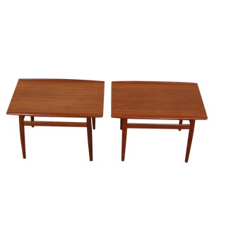Danish Modern Teak Side Tables by Grete Jalk for Glostrup Møbelfabrik -- A Pair
