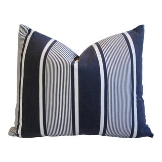 French Stripe Ticking Fabric Down & Feather Pillow